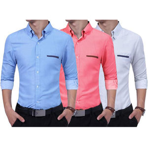 Combo of 3 New Branded Fashionable Long Sleeves Casual Shirts