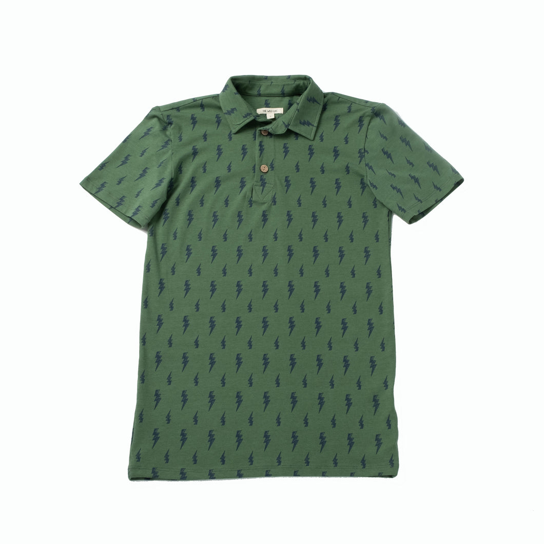 Brennan Men's Polo, Lightning