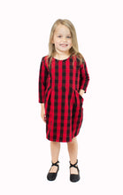 Load image into Gallery viewer, Holiday Edition Sage Dress in Buffalo Plaid