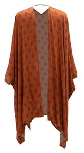 Mother of All Kimonos,  Rust Tribal Print