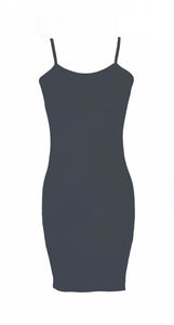 Gemma Dress in Charcoal