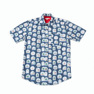 Special Holiday Edition Men's Camp Shirt, Tacky Christmas Print