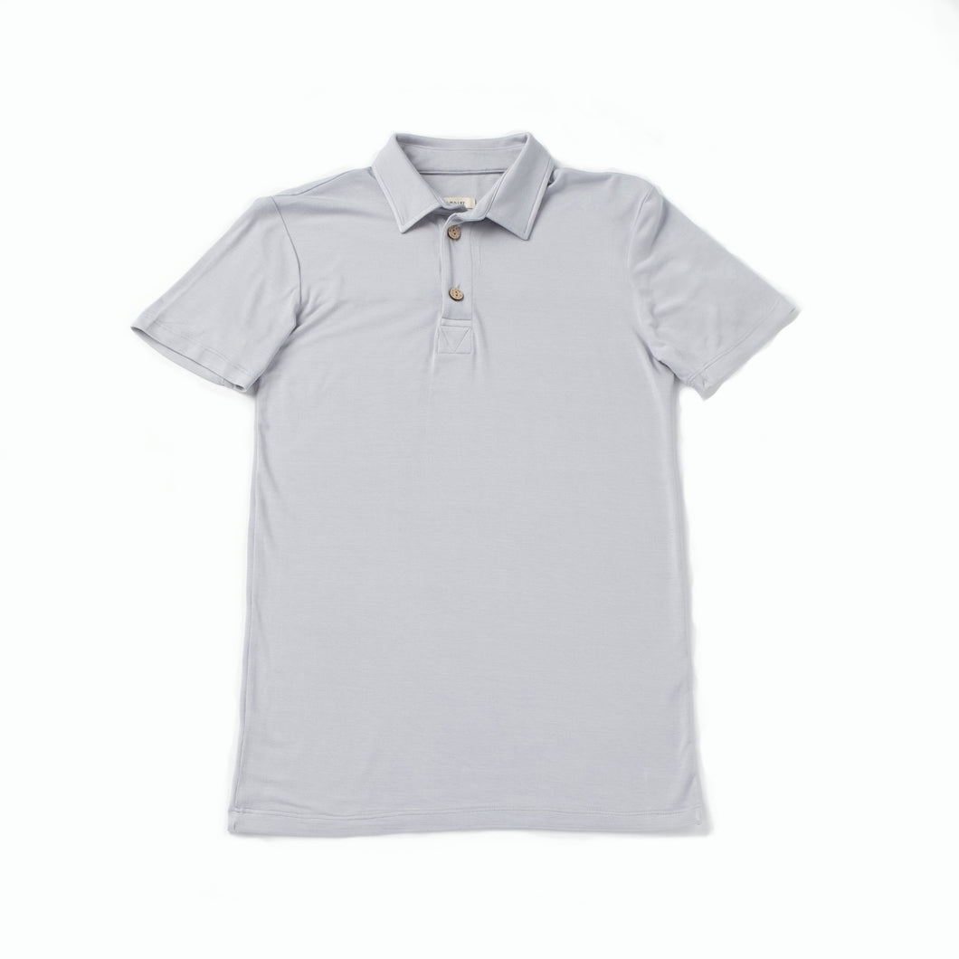 Brennan Men's Polo, Smoke