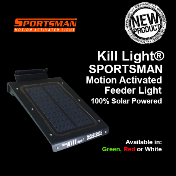 Kill Light® SPORTSMAN Solar Powered Motion Activated Feeder Light