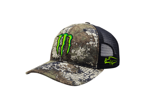 Image of Pigman's Camo Monster Energy Trucker Hat