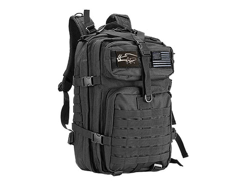 Image of Pigman's Elite Signature Backpack with Two Free Patches. This 40 Liter Rugged Backpack is suitable for any type of use and will serve in perfect situations for hunting and survival.