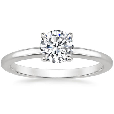 925 Sterling Silver Solitaire Ring 1/2 Carat Moissanite Ring Engagement Ring - onlyone