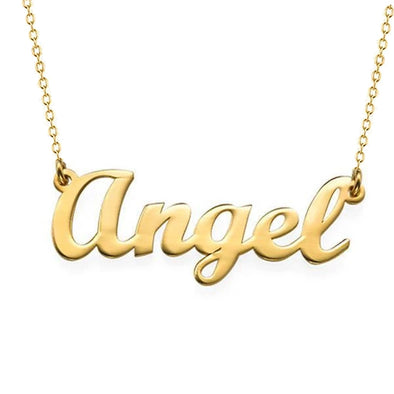 "925 Sterling Silver ""Angel"" Style Custom Name Necklace Nameplate Necklace"