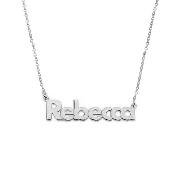 925 Sterling Silver Custom Name Necklace Nameplate Necklace