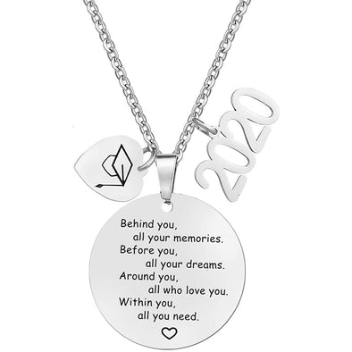 925 Sterling Silver Gaduation Gifts for Her High School Graduation Necklace Congrats Grad Jewelry for Graduates - onlyone