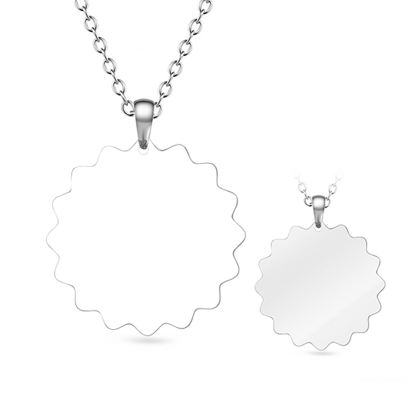 Personalized Stainless Steel Flower Photo Necklace - onlyone
