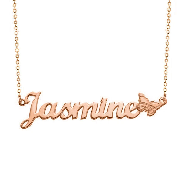 925 Sterling Silver Butterfly Custom Name Necklace