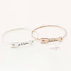 925 Sterling Silver Personalized Signaturehandwriting Arrow Bangle - onlyone