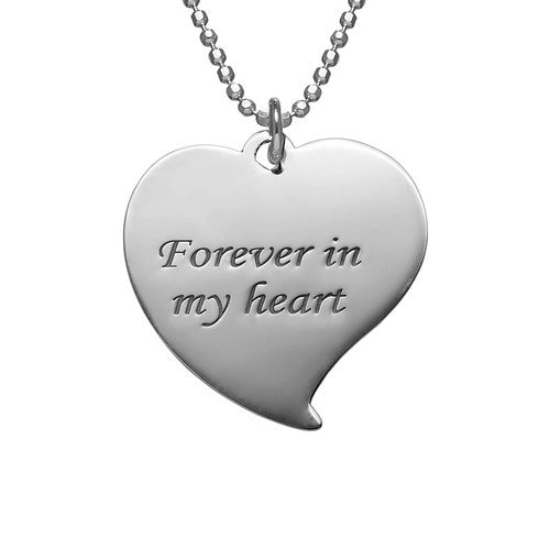 925 Sterling Silver Personalized Heart Photo Necklace - onlyone