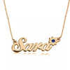 925 Sterling Silver Custom Sara Name Necklace Birthstone Nameplate Necklace - onlyone
