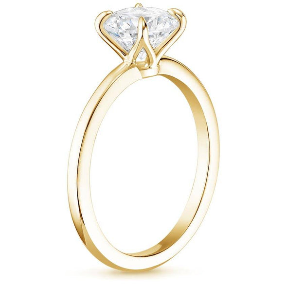 14K Solitaire Ring 0.5 Carat Diamond Ring Engagement Ring - onlyone