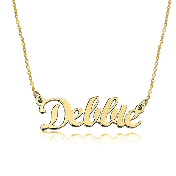 925 Sterling Silver Custom Dellie Name Necklace Nameplate Necklace - onlyone