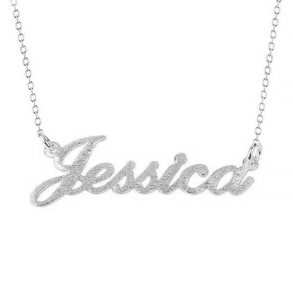 925 Sterling Silver Custom Diamond Name Necklace Bling Name Necklace Anniversary Gift - onlyone