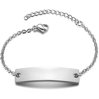 925 Sterling Silver Custom Baby Name Bracelet Anklet, Baby Toddler Child ID Bracelet Anklets for Girls Boys - onlyone