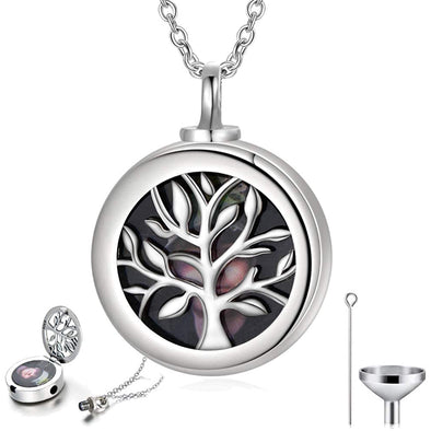 925 Sterling Silver Tree of Life Urn Necklace for Ashes Photo Locket That Hold Pictures Keepsake Necklace Cremation Jewelry - onlyone