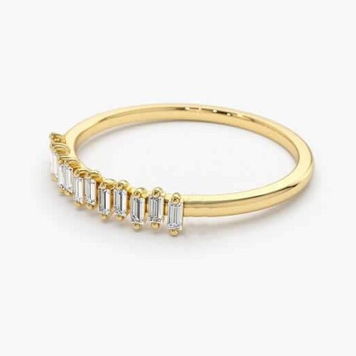 14k Gold Stackable Swarovski Crystal Women's Wedding Ring Fine Jewelry - onlyone