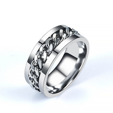 Stainless Steel Center Chain Spinner Ring - onlyone