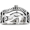 925 Sterling Silver Egyptian Eye of Horus Ankh Cross Ring - onlyone