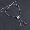 925 Sterling Silver Adjustable Butterfly Foot Bracelet Anklets for Girls - onlyone