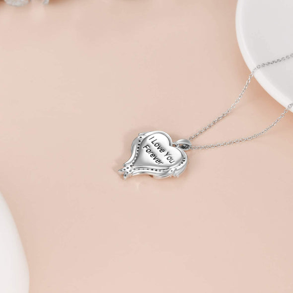 925 Sterling Silver Personalized Photo Necklace Custom Colorful Photo With Text Necklace - onlyone