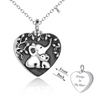 925 Sterling Silver Elephant Heart Urn Necklace for Ashes Cremation Jewelry for Ashes