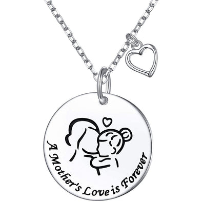 925 Sterling Silver A Mother's Love Is Forever Coin Necklace