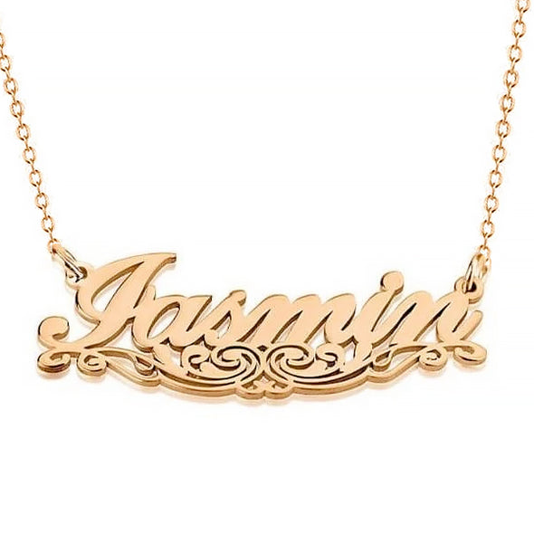 925 Sterling Silver Underlined Name Necklace Nameplate Necklace, Gift For Her