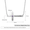 925 Sterling Silver Personalized Sideways Cross Necklace with Custom Name & Birthstone - onlyone