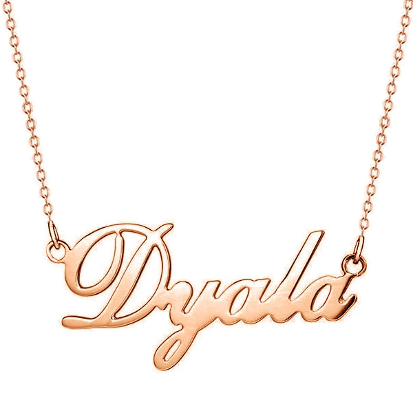"925 Sterling Silver ""Dyala "" Style Custom Name Necklace Nameplate Necklace"