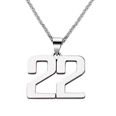 925 Sterling Silver Customized Jewelry - Personalized Charm Number Necklace - onlyone