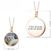 925 Sterling Silver Full Color Photo Picture Personalized Necklace With Message Name - onlyone