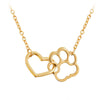 925 Sterling Silver Cat Dog Puppy Paw Print Stamped Pet Memorial Pendant Necklace Love Heart Necklace - onlyone