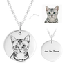 925 Sterling Silver Pet Photo Engraved Necklace Gift for Cat Lovers - onlyone