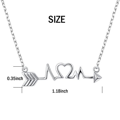 925 Sterling Silver White Angel White ECG Necklace Enamoured Necklace - onlyone