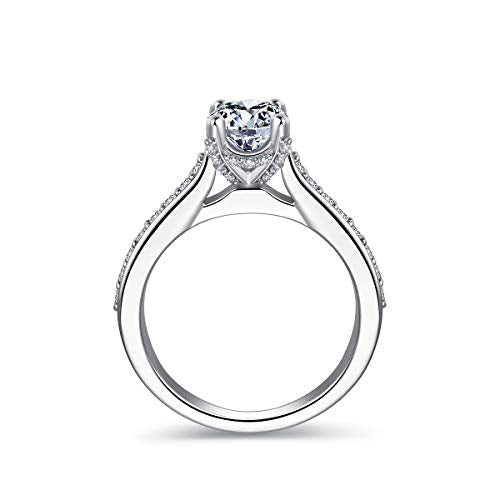 OnlyOne Square Ring Silver Engagement Ring Wedding Ring - onlyone