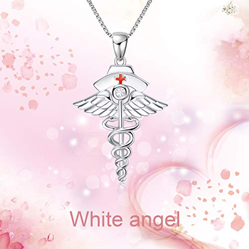 925 Silver White Angel Gift Series: White Angel Holy Guardian - onlyone