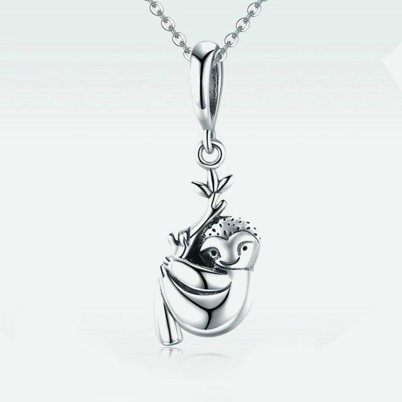 Sterling Silver Sloth Pendant Necklace