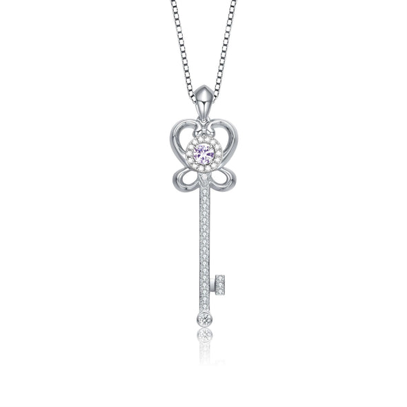 925 Sterling Silver The Key To Your Heart Necklace Gift For Girlfriend Gift For Her - onlyone