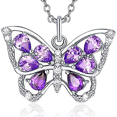 925 Sterling Silver Butterfly Necklace, Butterfly Necklaces For Women Girls - onlyone