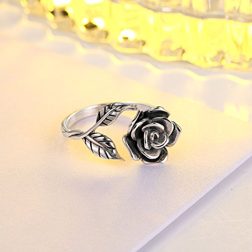 OnlyOne 925 Silver Adjustable One Love Rose Ring - onlyone