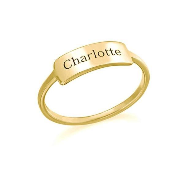 Personalized Engraved Simple Ring-Personalized Rings-YAFEINI-Gold Plated-yafeini-personalized-custom-jewelry