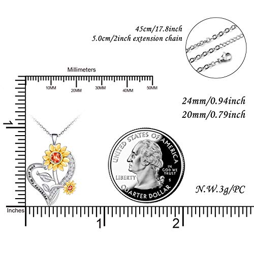 Sunflower Necklace for Women 925 Sterling Silver Gift Necklace - onlyone