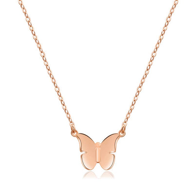 18K Gold Plated Butterfly Charm Necklace - onlyone