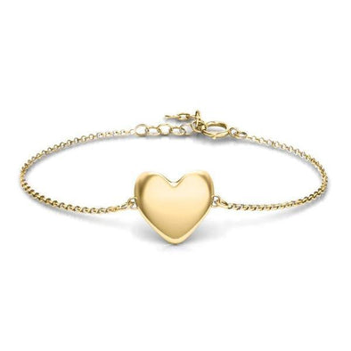 "925 Sterling Silver Personalized Engraved Sweet Heart Bracelet Length 6""-7.5"" - onlyone"