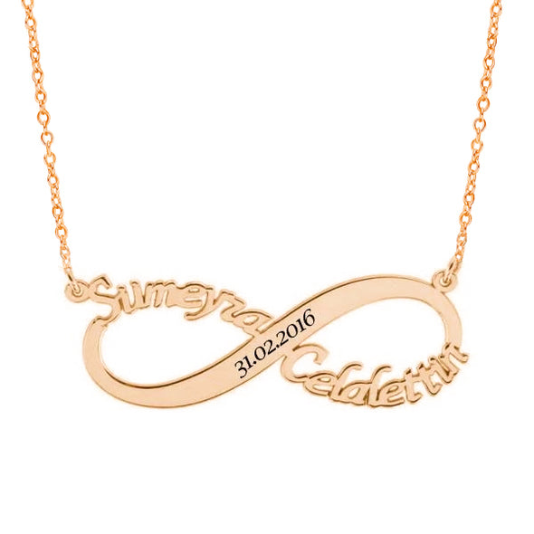 925 Sterling Silver Infinity Name Necklace Nameplate Necklace - onlyone